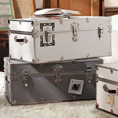 PBdormu0027s Storage Ottomans Feature Smart, Stylish Solutions For Small  Spaces. Find Dorm Trunks, Storage Trunks And Chests And Create An Organized  Dorm Room.
