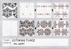 Victorian Flake - tangle pattern by perfectly4med