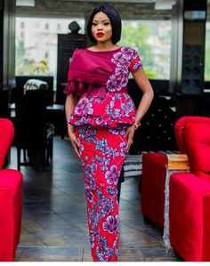 Look Fabulous In This 2018 Peplum Gown Style For wedding, Ankara styles Fashion Trends, Peplum styles.check out these latest african fashion trends we have lined up for you today. They look classic and absolutely gorgeous. Trendy Ankara Styles, Kente Styles, Ankara Gown Styles, Ankara Gowns, African Fashion Designers, Latest African Fashion Dresses, African Print Fashion, Africa Fashion, African Prints