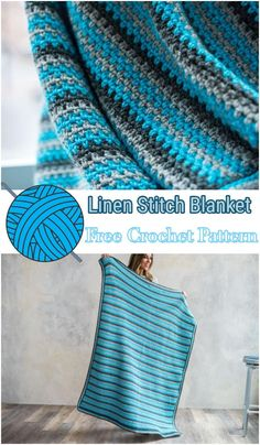 Linen Stitch Blanket Crochet Kit If you are looking some easy crochet patterns then here we have added all of the best and easy croc Crochet World, Baby Blanket Crochet, Crochet Baby, Crochet Kits, Crochet Blankets, Afghan Crochet Patterns, Knitting Patterns, Crocheting Patterns, Crochet Afghans