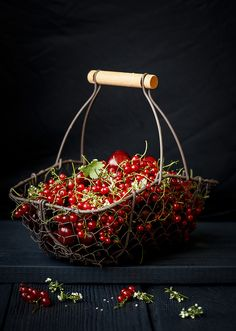 "♂ Food photography #still life #styling #fresh basket of fruit ""Red currant"" by Julia Khusainove"