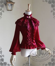 Lolita vitoriano elegante lanterna manga gola Chiffon blusa camisa das mulheres destacável xaile em Blusas de Roupas e Acessórios no AliExpress.com | Alibaba Group