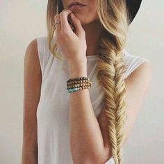 Side fishtail and hat!
