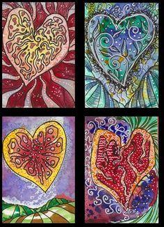 Zen/Doodle Hearts