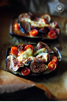 Baked Eggplant, with Figs, Cherry Tomatoes & Goat Cheese: I made this ...