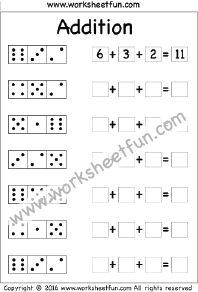 Add three numbers worksheet