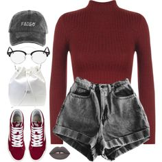 A fashion look from June 2016 featuring WearAll tops, Geox handbags and Ray-Ban eyeglasses. Browse and shop related looks. Lila Outfits, Teen Fashion Outfits, Teenager Outfits, Cute Casual Outfits, Outfits For Teens, Summer Outfits, Edgy Teen Fashion, Hipster Fashion, Fashion Fashion