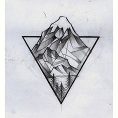 Image result for stripy line art mountains