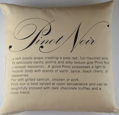 Pinot Noir Wine Pillow Cover 15 X 15 Canvas by janetbrownstudios