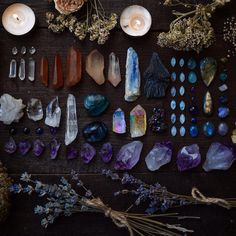 Crystal photography/ crystals and herbs / magick