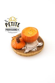Rustic Pumpkin Soup Tureen - 1:12 Dollhouse Miniature  Pumpkin soup is a fall favorite, and this soup is served in a real pumpkin tureen!…