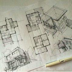 Design of Architectural Environment - architecture graphic - Architektur Croquis Architecture, Architecture Student, Art And Architecture, Classical Architecture, Graphisches Design, Sketch Design, Attic Design, Plan Sketch, Interior Sketch