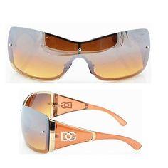 DG Women Eyewear Fashion Designer Sunglasses Shades Shield One Lens Brown 9003 | eBay