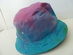 TIE DYE, custom cotton bucket hat with side mesh panels Festival. Oasis, Dope, unisex, by ConfettiTieDye on Etsy