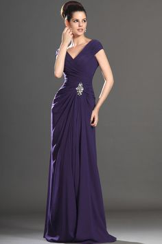Edressit 2017 New Y V Neck Purple Mother Of The Bride Dress 26132706