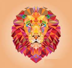 Pin By Carmen On Fondo Simple Con Figura Compleja Geometric Lion Lion Illustration Geometric Animals