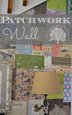 Patchwork Wall DIY ::: a quick, fun way to create a patchwork wall in your home! Diy Wall Art, Wall Decor, Woodland Nursery Decor, It Goes On, Do It Yourself Home, Home Projects, Craft Projects, My New Room, Decoration