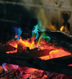 Rainbow Flame Crystals brings gorgeous blue-green flames to your wood fire, indoors or out.