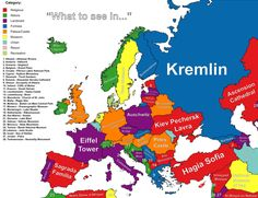 """""""What to see in…"""" autocompleted by Google for each country on this map."""