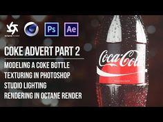 Cinema Tutorial - Coke Bottle in Octane Render - Part 2 Tutorial Sites, 3d Tutorial, Cinema 4d Tutorial, Animation Tutorial, Good Tutorials, Design Tutorials, After Effects, After Effect Tutorial, Blender 3d