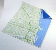 Chicago map baby quilt. dang it. wish I would have gotten this for when the kids were babies.