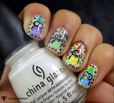 Party Owl Nails