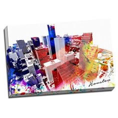 Picture it on Canvas  Houston Watercolor  Graphic Art on Canvas H Town 2b9362754