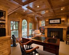 Rustic Home Office Design