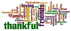 Thankful word collage