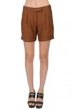 Maggie Ward Pleated Shorts in Cinnamon  available at #Loehmanns