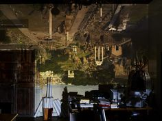 Abelardo Morell Camera Obscura: View of the Forum in City Hall Office, 2010 Aperture Photography, Color Photography, Landscape Photography, Miniature Camera, How To Make Camera, Critique D'art, Camera Techniques, Pinhole Camera, First Photograph
