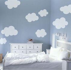 Kit Sonhando Nas Nuvens Adesivo Parede (9 Nuvens Grandes)