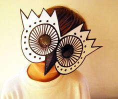 "Owl Mask ""mascara buho"", by con M de mujer, Etsy."
