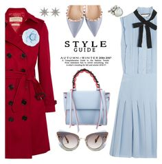 """Bits of blue"" by pensivepeacock ❤ liked on Polyvore featuring Burberry, Gucci, Elena Ghisellini, Chanel, Valentino, Miu Miu and Bee Goddess"
