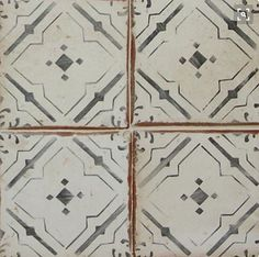 The La Terre Collection features Moorish inspired, hand-stenciled terra cotta tiles that evoke an old world look while maintaining a contemporary and versatile feel Kitchen Tiles, Kitchen And Bath, House Tiles, Moorish, Tile Patterns, Tile Design, Old World, Home Remodeling, Decoration