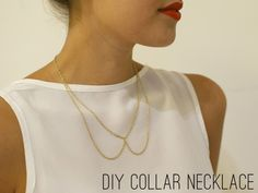 DIY gold chain collar necklace inspired to share