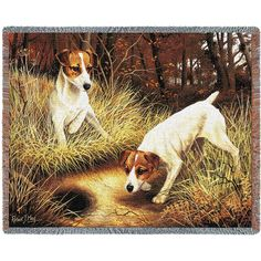 Jack Russell Terrier Dogs Art Tapestry Throw