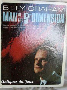 Billy Graham 1964 World's Fair Book Man in the by AntiquesduJour, $20.00