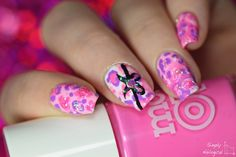 Pretty pink leopard nailz OMG totes my style  by simplynailogical