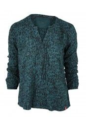 EDC blouse donkergroen, 49,95 van de Belt
