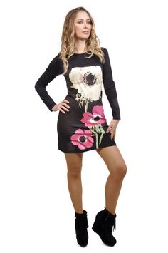 Savage Culture: Chic Fuchsia Creme Carnation Long Tunic/Dress Linda. Simply beautiful and all Cotton too! Only on Wild Curves!