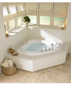 1000 images about corner garden tub on pinterest garden for Corner garden tub