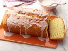 Lemon Yogurt Cake, the Barefoot Contessa.  I find it doesn't need the glaze, it's plenty lemon-y without it.  Great for breakfast.