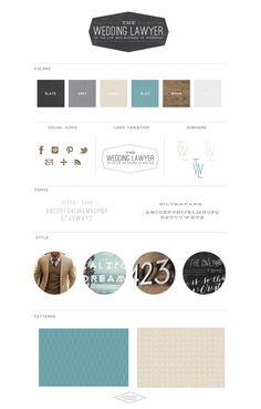 The Wedding Lawyer - Brand Board  - Saffron Avenue