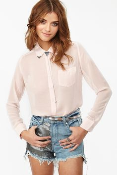 Yuma Studded Blouse  AU$46.08
