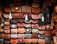 Marrakech, souk, bags, bags, bags….