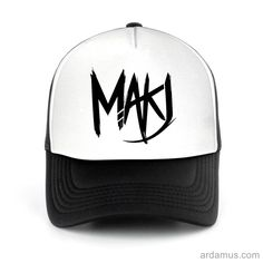 Makj Trucker Hat for men or women. Available color black, red, pink, green. Shop more at ARDAMUS.COM #djtruckerhat #djcap #djsnapback #djhat