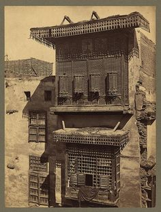 :Egypt - Cairo - old house and Masharabieh. Francis Firth, photographer. ca.1856-60. Library of Congress