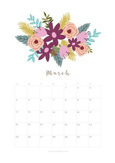 March 2018 calendar download