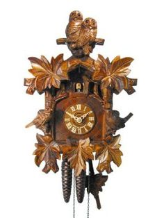 Amazon.com: German Cuckoo Clock 1-day-movement Carved-Style 13 inch - Authentic black forest cuckoo clock by August Schwer: Home & Kitchen